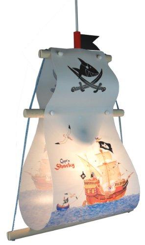 Niermann Standby 187 Pendelleuchte Capt'n Sharky, ca. 33 x 45 cm, 1 x E27 - max. 60 Watt, Made in Germany