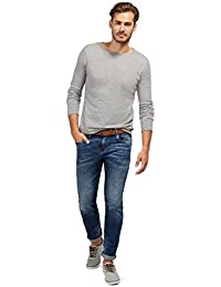 TOM TAILOR Herren Slim Jeans Denim with Belt