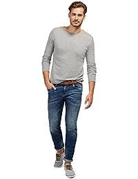 TOM TAILOR Herren Slim Jeans Denim with Belt