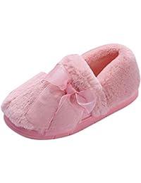ZiXing Pantofole di per Donna - Antiscivolo Scarpe Chiuse Ciabatte  Invernali da 82c57beabe4