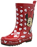 Minnie Mouse Girls Kids Rainboots Boots, Bottes & Bottines de Pluie Fille, Red, 28 EU