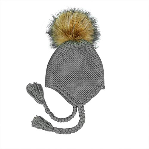 Milopon Bady Gorro Sombrero De Invierno Niño Niña Algodón Calientes  Stricken Esquí Caps Gorro para Bebé 08f2f45cd54