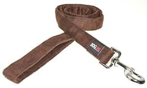 Dogline Unbeatable Soft Dog Lead, 4 ft x 1-inch/ 2.5 cm, Brown