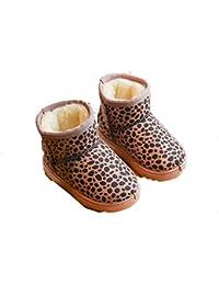 Niños Martin Botas otoño e Invierno niños y niñas cómodo más Terciopelo Medio de algodón para niños Antideslizante Caliente Desgaste Botas de Nieve Resistentes Tubo Botas Cortas