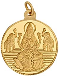 Bangalore Refinery 5.2 Gm Round Lakshmi 24k (999) Yellow Gold Pendant