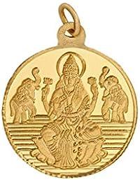 Bangalore Refinery 5.2 Gm Round Lakshmi 24k (999) Yellow Gold Pendant