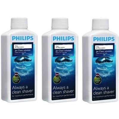 Brand New 3 X Philips Hq200 Cleaning Shaver Fluid Solution Jet Clean