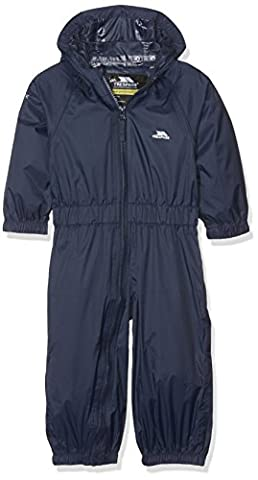 Trespass Babies Unisex Button Rain Suit - Navy, 12/18 Months