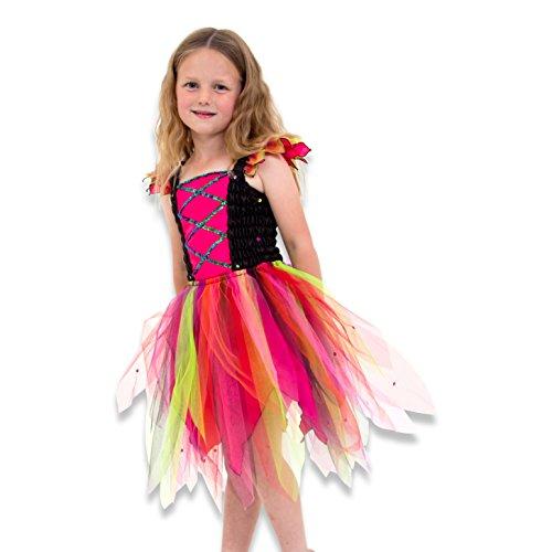 Wundervolles Hexenkleid - Hexenkostüm Kinder Karneval - Gr 104 (3-4 Jahre) - Lucy - Toad Kostüm Mädchen