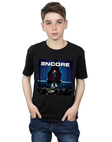 Eminem Jungen Encore Album Cover T-Shirt 9-11 Years Schwarz (Tee Album-cover)