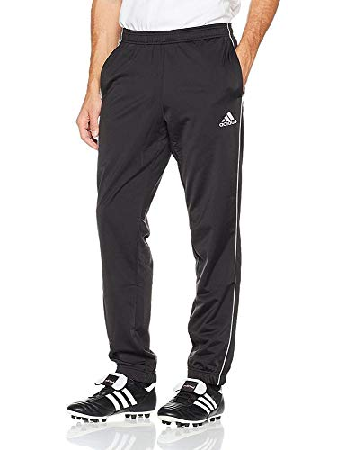 adidas Core 18 Polyester Pants Pantalon Homme, Black/White, FR : M (Taille Fabricant : M)