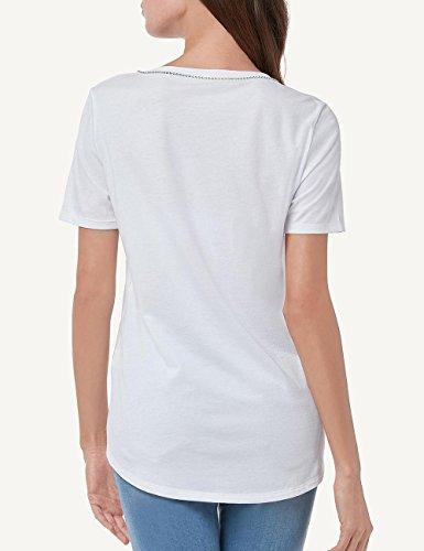 Intimissimi Damen Shirt aus Supima®-Baumwolle mit Strass Weiß - 001