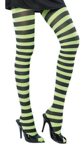 Party Pro 87270023lila gestreift Strumpfhosen weiß und grün, Multicolor (Und Lila Gestreiften Grün Strumpfhosen)