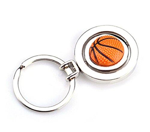 Sportigo® drehbarer Basketball Schlüsselanhänger 3D Optik/Geschenk