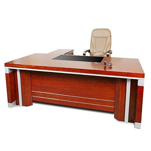 Kirschholz-schreibtisch (Büromöbel Bueroausstattung Büro Kirschholz Echtholz Chef Schreibtisch Lahr XXL von Jet-Line)