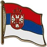 Pin's (épinglette) Drapeau Serbie avec blason - 2 x 2 cm