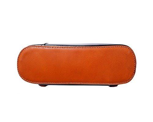 Florence Leather zaino borsa, Black & Brown (multicolore) - 207 Black & Tan