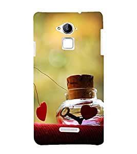 printtech Love Heart Key Design Back Case Cover for Coolpad Note 3 Lite Dual SIM with dual-SIM card slots