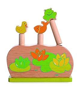 Egmont Toys- Encajable, Color Verde y Madera (E511020)