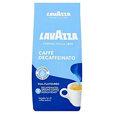 Lavazza Decaffeinated Ground Coffee, 250 g (Pack of 8) from Lavazza