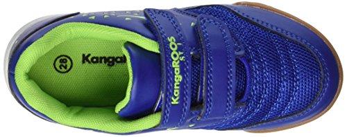 KangaROOS Vander Court V, chaussons d'intérieur mixte enfant Blau (Royal/Lime)