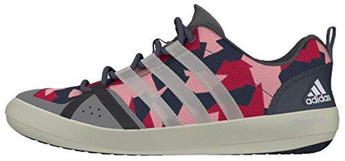 adidas Sailing Damen Herren Segelschuhe Camouflage Deckschuhe, Größe:44 2/3, Farbe:Onix/White/Pink