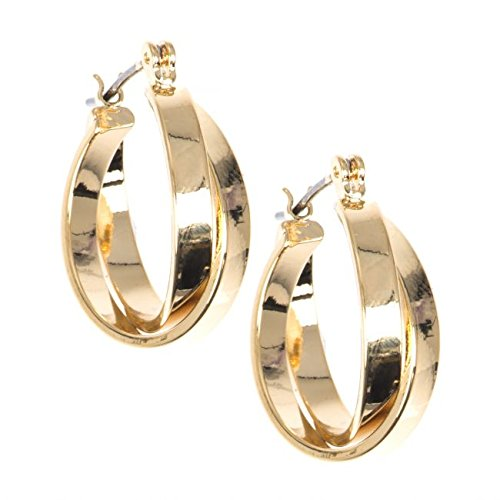 anne-klein-gold-tone-interwoven-small-hoop-pierced-earrings