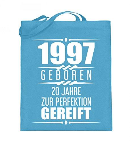 Hochwertiger Jutebeutel (mit langen Henkeln) - 1997 - LIMITIERTE EDITION Hellblau