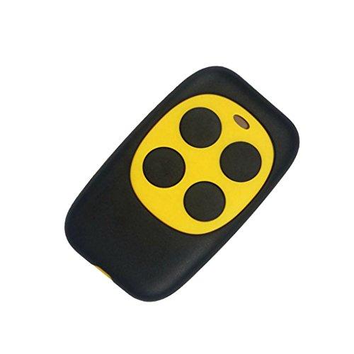 F Fityle Universal Türfernbedienung Funkschlüssel 433MHz Fernsteuerung für Fahrzeug Zentralverriegelungen, Garagentore - Gelb