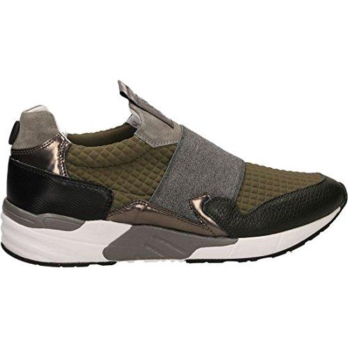 Mariano Di Vaio , Chaussures de sport d'extérieur pour homme gris Gris / Vert 40 EU Gris / Vert