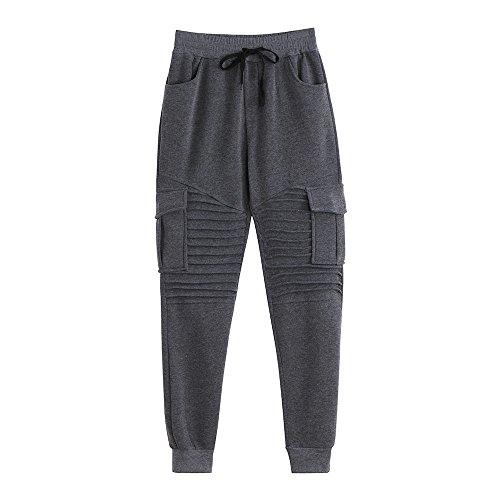ZODOF Pantalones De CháNdal De Rayas Casual Retro De Moda Pantalones De CháNdal De Los Hombres Pantalones De CháNdal Holgados Ocasionales del Deporte Pantalones