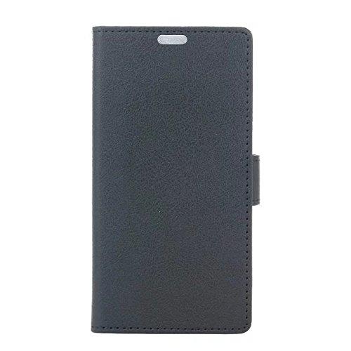 LG K3 4G Fall, Solid Color Kas Textur Muster Leder Schutzhülle Case Horizontal Flip Stand Case mit Kartensteckplätze für LG K3 4G ( Color : Red , Size : LG K3 4G ) Black