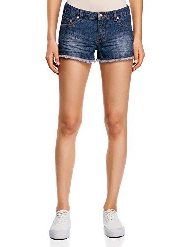 Oodji Ultra Mujer Pantalones Cortos Vaqueros