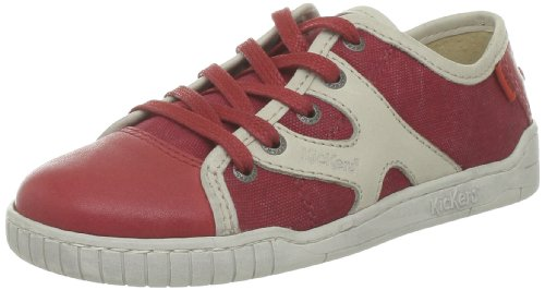 Kickers Winsome, Baskets mode garçon Rouge (Rouge Blanc)