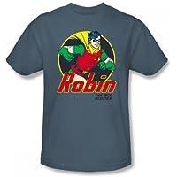 Batman-The Wonder Boy-Maglietta Slim Fit, da adulto, colore: ardesia