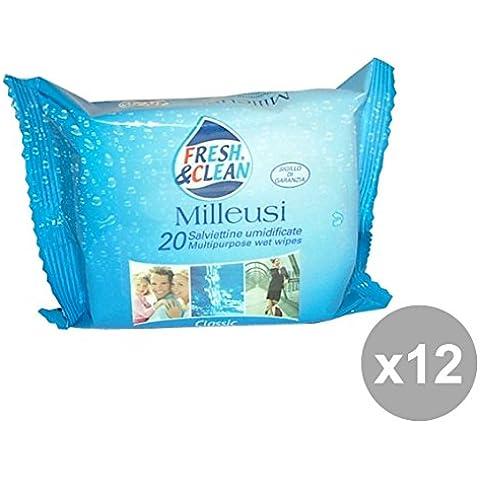 Set 12 Fresh & Clean Salviette Milleusi * 20 Pezzi Classic MUSK Igienici sanitari
