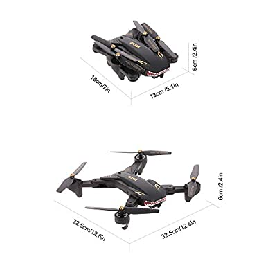 Goolsky VISUO XS809S RC Drone with 2.0MP Wide Angle Camera Quadcopter Wifi FPV Foldable One Key Return Altitude Hold G-sensor with One Extra Battery