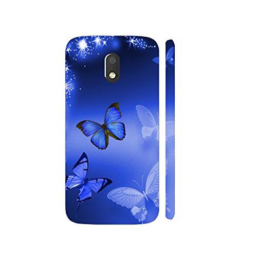Clapcart Butterflies Designer Printed Mobile Back Cover for Motorola Moto E3 / Moto E3 Power / Moto E 3rd Generation - Colorful (Clapcart4607)