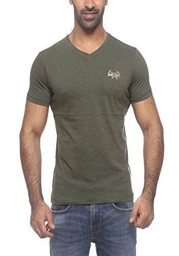 Pepe Jeans Mens Olive Slim Fit Tshirts (Small)  available at amazon for Rs.449
