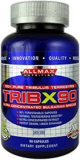 Trib X90, 750mg - 90 caps booster nitric oxide testosterone power energy strength stimulation performance endurance muscle growth by AllMax Nutrition M by AllMax Nutrition