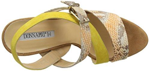 Donna Piu - 52770 Francesca, cinturino posteriore Donna Multicolore (Gozzy Orange/Camoscio Giallo)