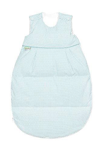 Odenwälder Daunen-Schlafsack Thermo-Nest dots, Größe:70, Design:soft mint