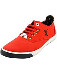 Styliano Men's Synthetic Casual Shoes (6, Red)