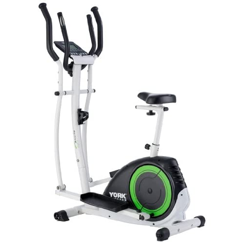 41KmEqvQwoL. SS500  - York Fitness Active 120 2-in-1 Cycle Cross Trainer - Black