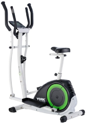 York Fitness Active 120 2-in-1 Cycle Cross Trainer - Black