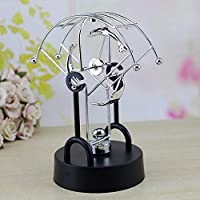 LIAOLEI10 statue Perpetual Rotation Dolphin Home Decoration Physics Science Metal Balance Ball Toy Metal Ornaments Gifts Rudder Figurines Statues