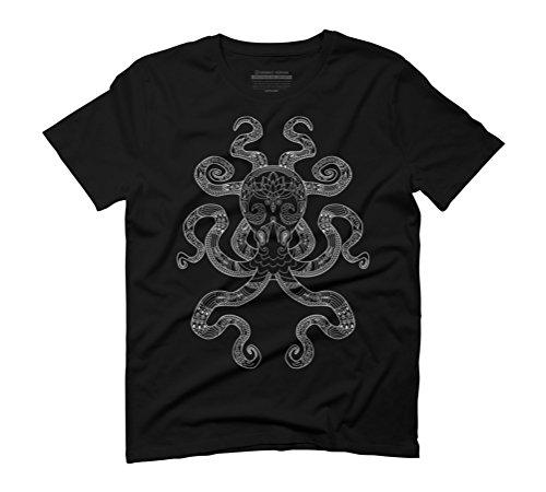 Color Me Octopus - Light Grey Men's Graphic T-Shirt - Design By Humans Black