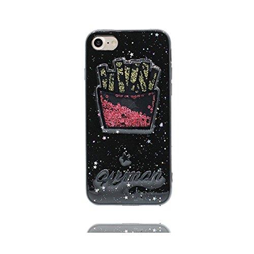 iPhone 6s Plus Custodia, iPhone 6S Plus Copertura posteriore di TPU sveglio // protezione protettiva della pelle di Shell della copertura durevole// Cartoon animale Fenicott di case pour iPhone 6 Plus Nero 4