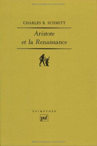 Aristote et la Renaissance