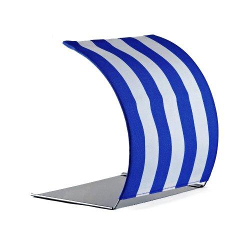 TABRELLA, Tischschirm oder Sonnenschutz für Tablet, iPad, Laptop, Notebook bis 15 Zoll, Strandkorb - Design, blau, eine Geschenkidee zum Einzug.